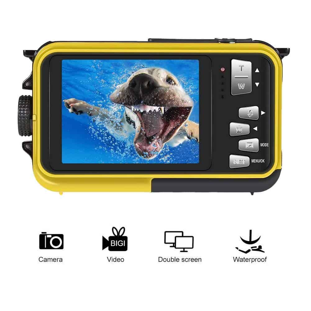 Underwater Camcorder Waterproof Camera Full HD 1080P for Snorkeling Waterproof