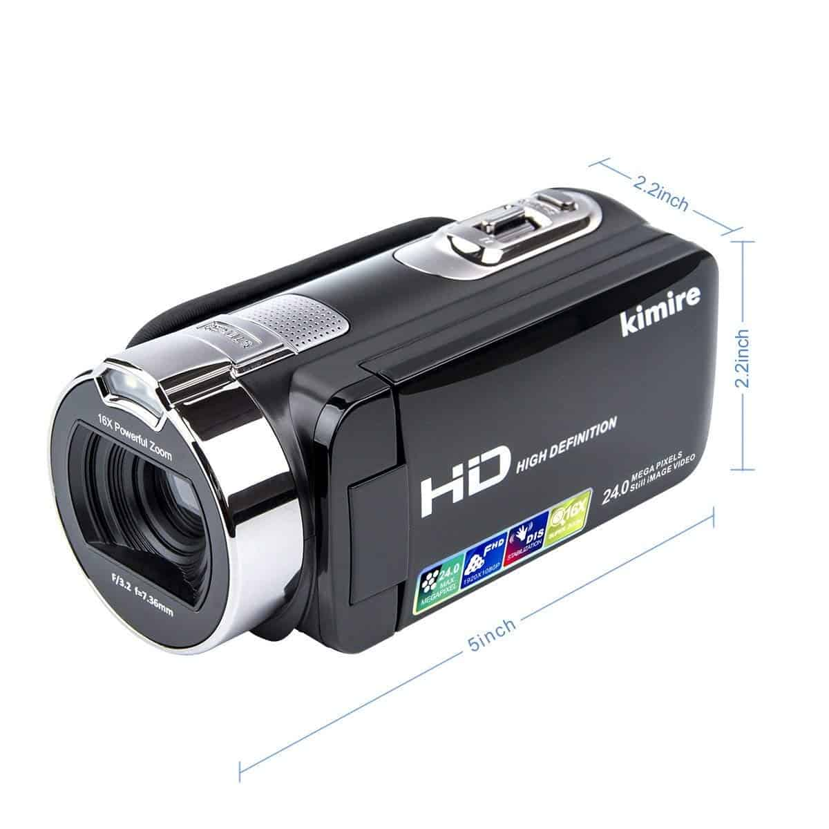 Vlogging Camera Video Camera Camcorder Digital Recorder, Kimire HD 1080P 24 MP 16X