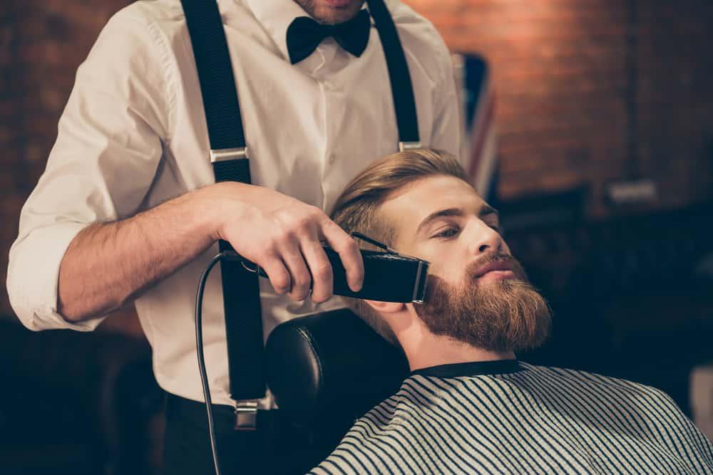 men shave