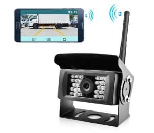 Wireless phone backup camera