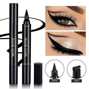 Shake Beauty Eyeliner Stamp – Vogue Effects Black, Waterproof Make Up, Smudgeproof, Winged Long Lasting Liquid Eye Liner Pen, Vamp Style Wing, 1 Pen in a Pack (10mm Classic)