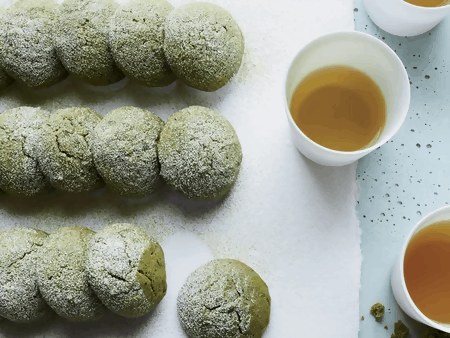 MATCHA TEA CAKE COOKIES