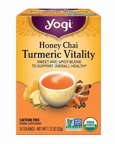 Yogi Tea - Honey Chai Turmeric Vitality - Sweet and Spicy Blend