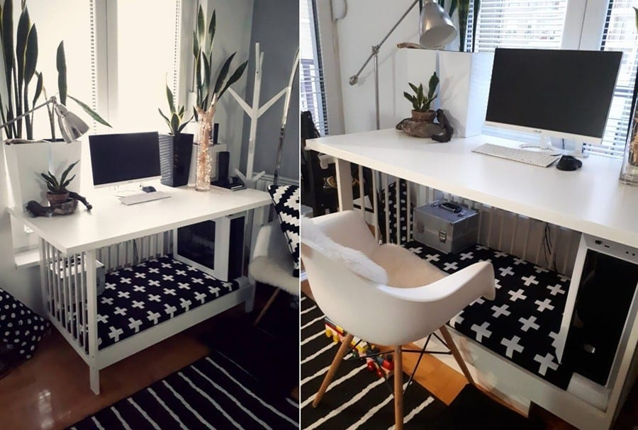 A Recycled IKEA Crib Computer Desk