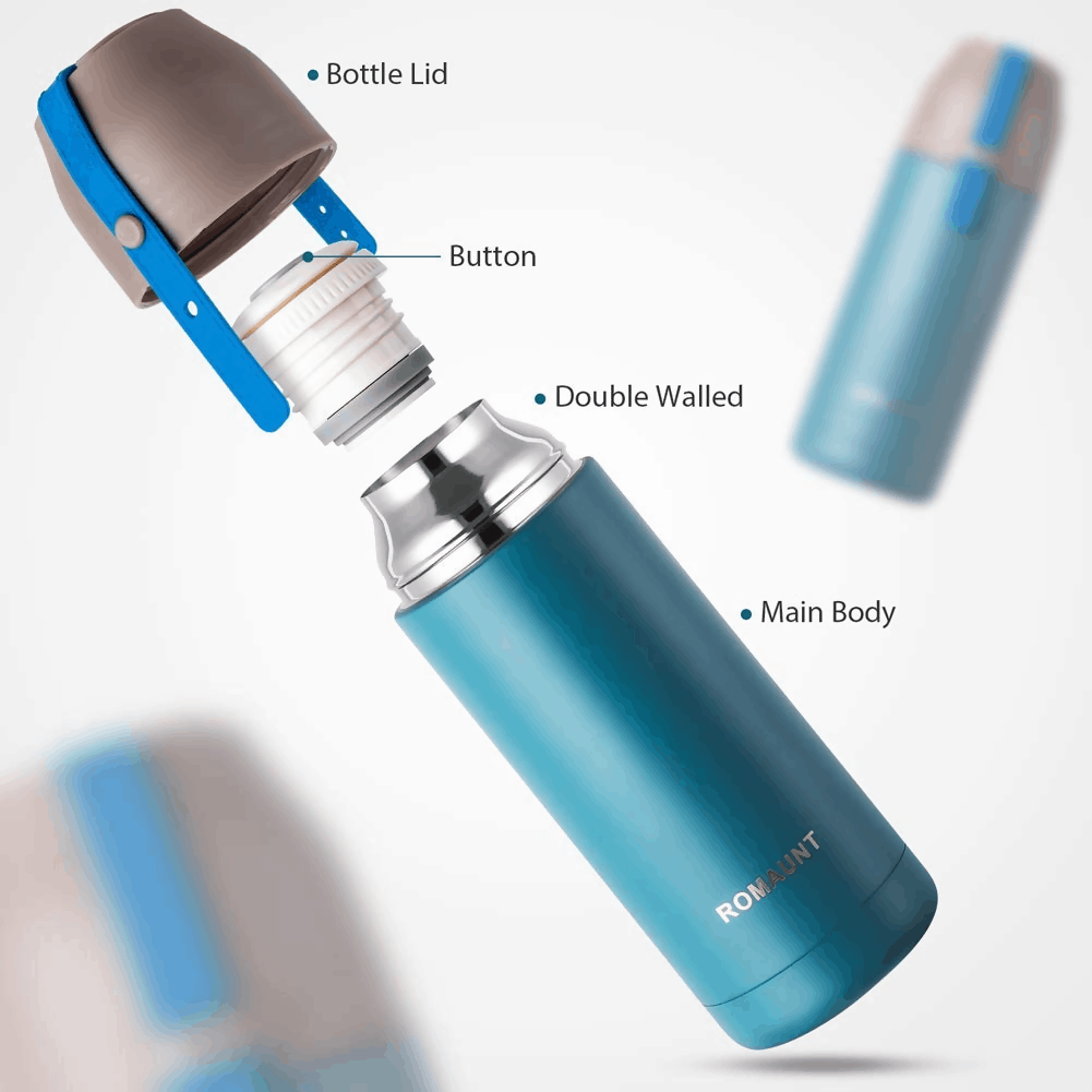 A travel mug that lets you power your tea as you please