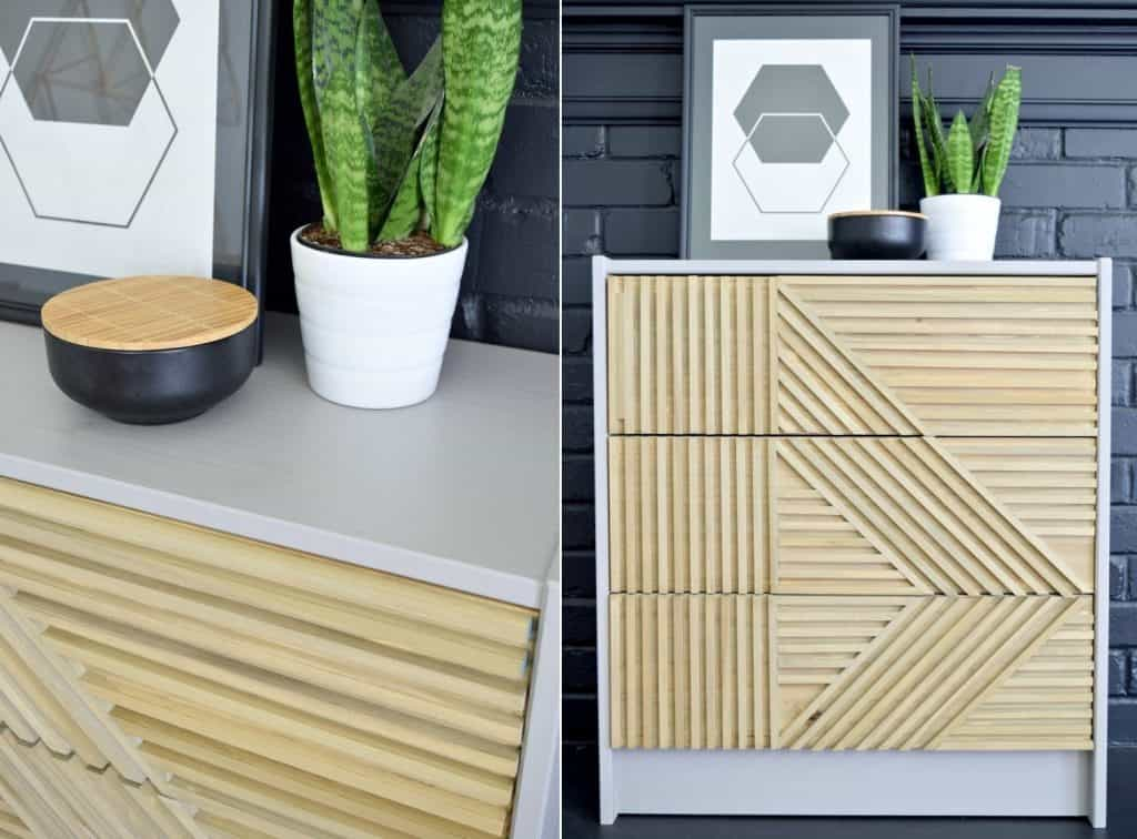 An IKEA Rast Makeover with Square Dowels