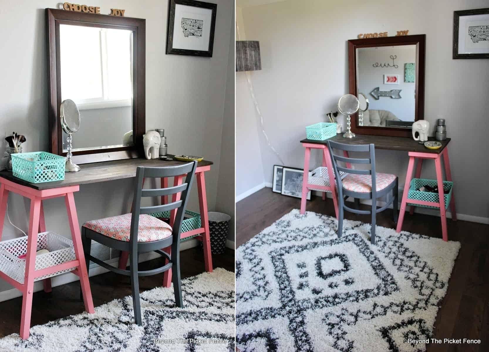 Barstool Vanity Table