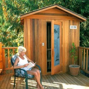 Finlandia Outdoor Sauna with Roof Kit