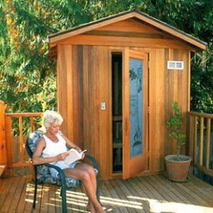 Finlandia Outdoor Sauna with Roof Kit