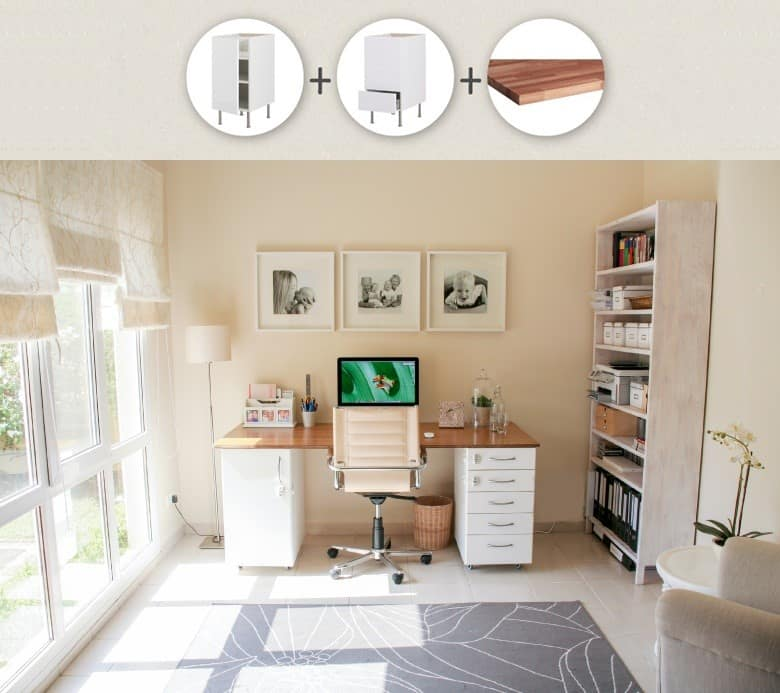 IKEA Kitchen Cabinets and Worktop Desk