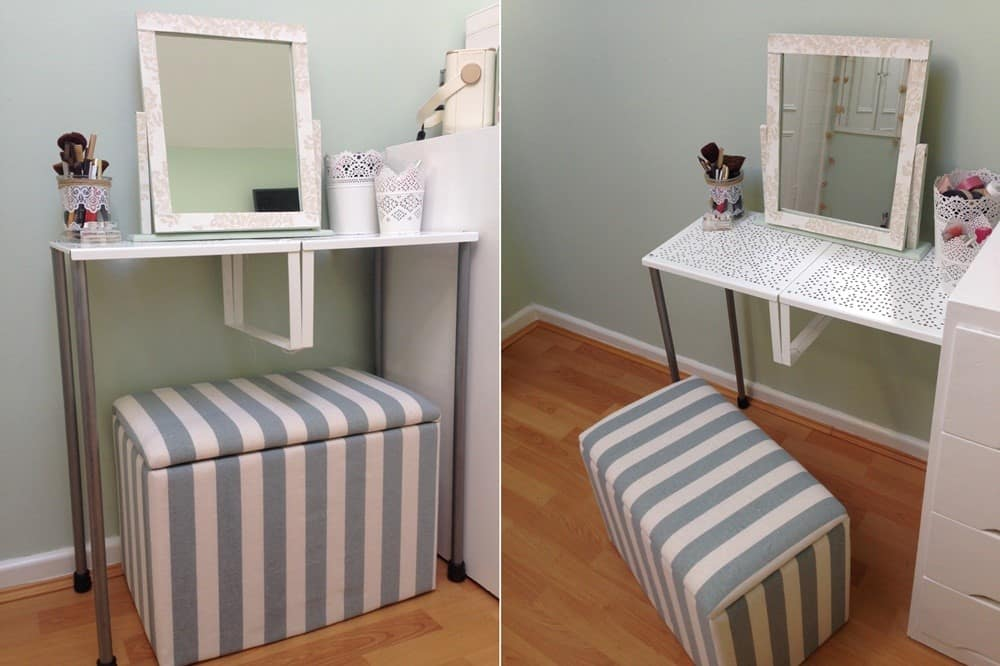 IKEA Shelf Inserts Dressing Table