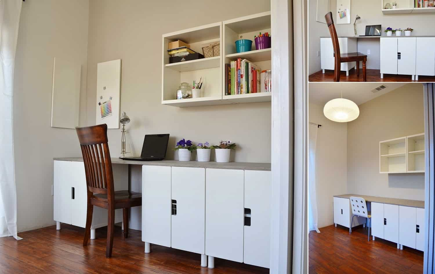 IKEA Stuva Cabinets Table Hack with a Faux Concrete Countertop