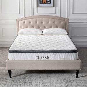 Classic Brands Synergy Hybrid 9-Inch Pillow-Top Mattress