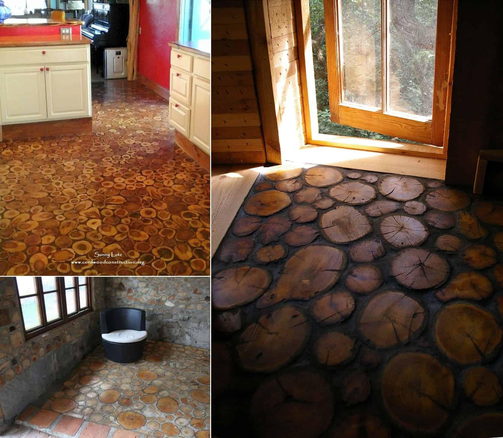 Log Slice Floors