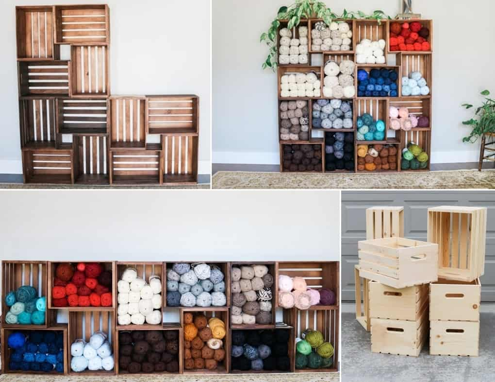 Reclaimed Wood Crates