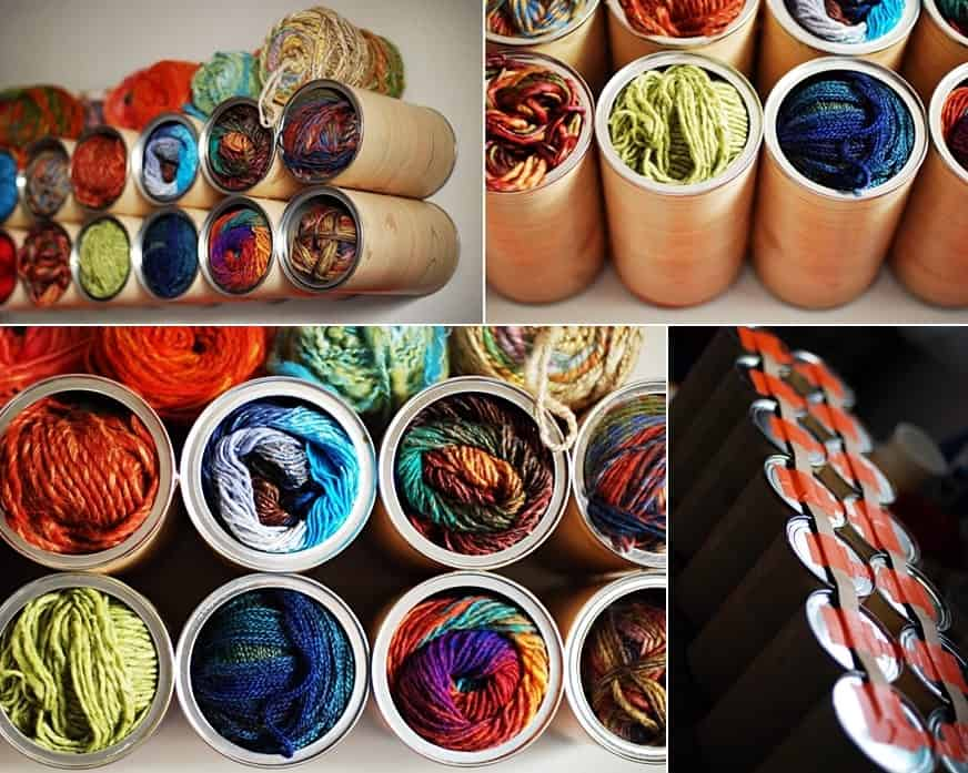 Tin Can Yarn Organizers