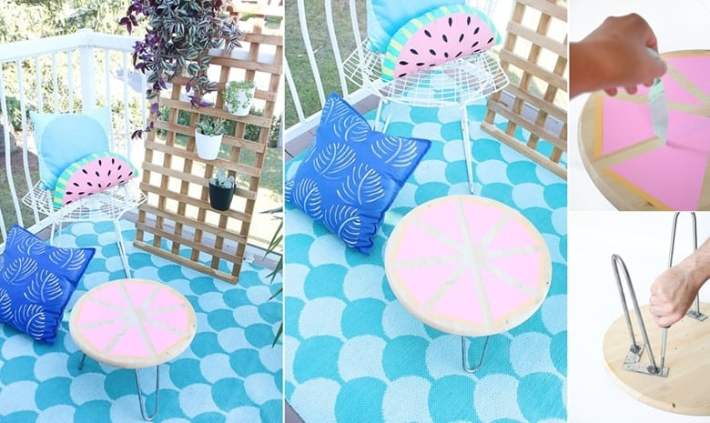An Outdoor Citrus Side Table