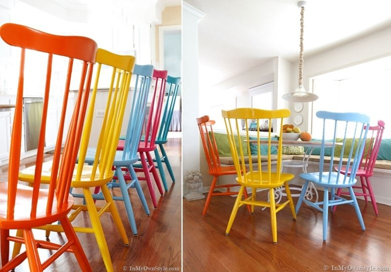 Chairs Makeover with Spray Paint