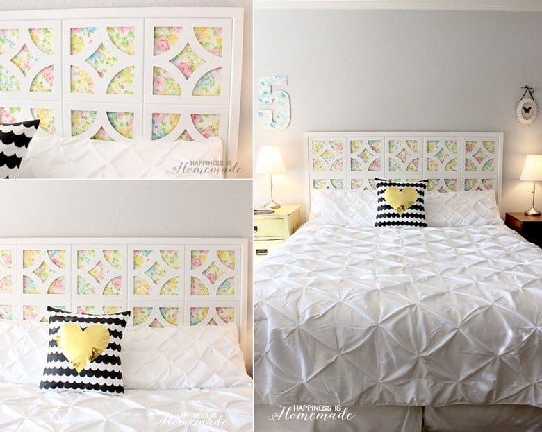 A DIY Vintage Sheet Headboard