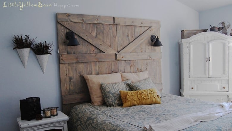 A Barn Door Headboard