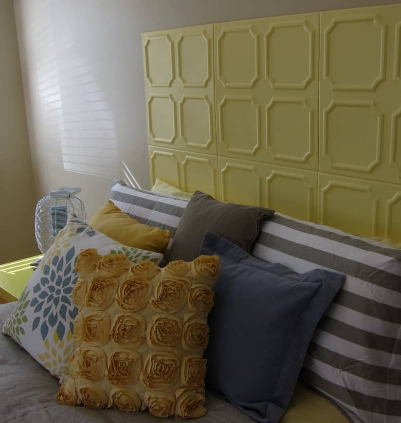 A Ceiling Tile DIY Headboard