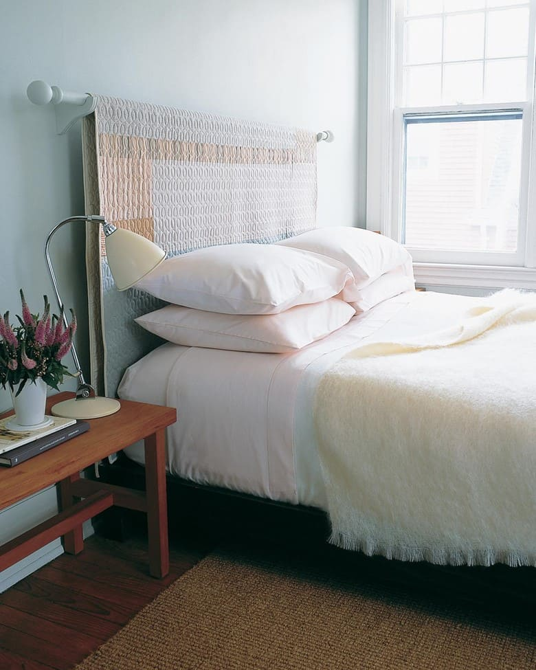 A Throw Blanket Headboard