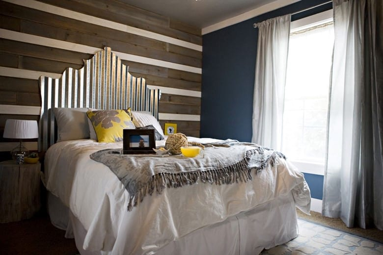 A Corrugated Tin Sheet Headboard