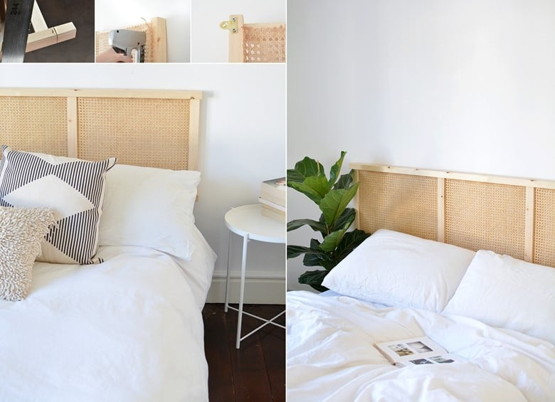 A Cane Headboard - An IKEA Hack