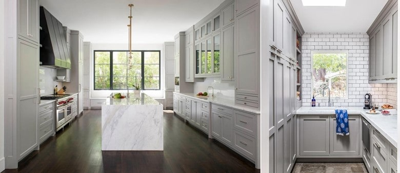 A Floor to Ceiling Gray Cabinetry