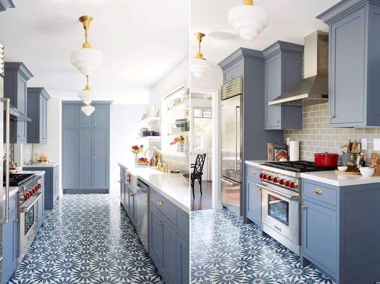 Paint Blue-Gray Cabinets