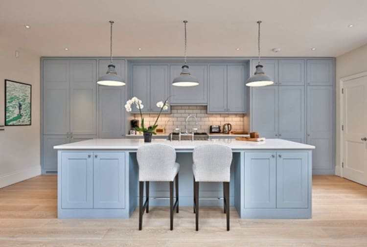 heaven blue kitchen cabinets