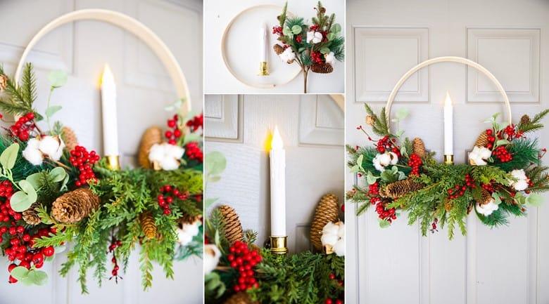 An Embroidery Hoop Wreath