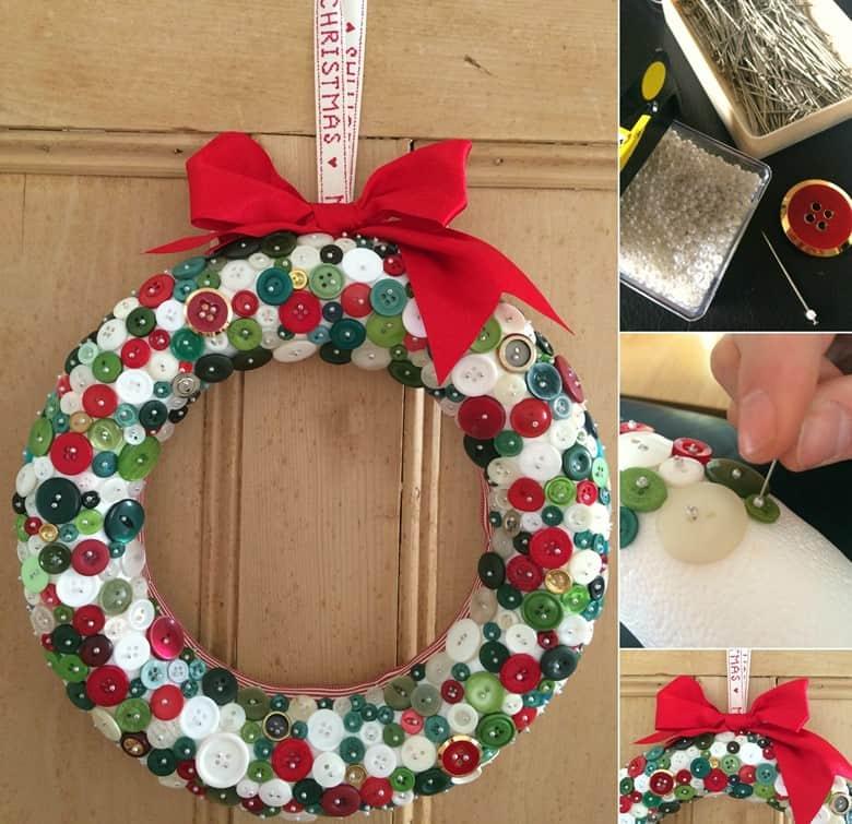 A Button Christmas Wreath