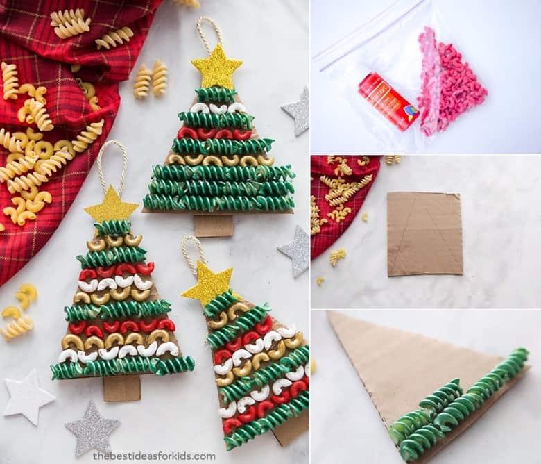 Pasta Christmas Tree Craft