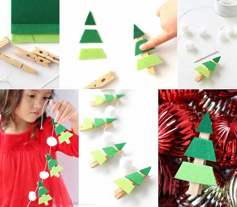 An Ombre Christmas Tree Garland