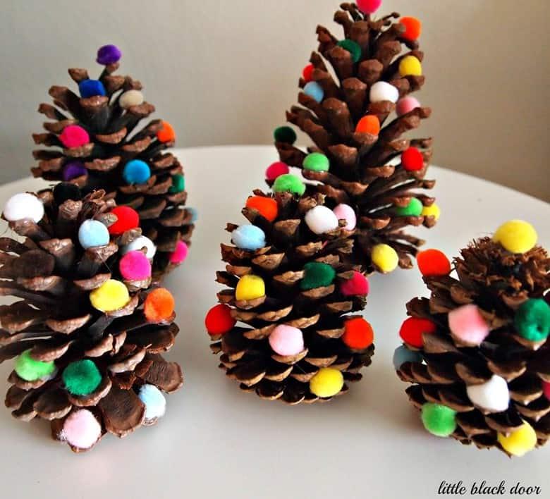 Miniature Pinecone Christmas Trees