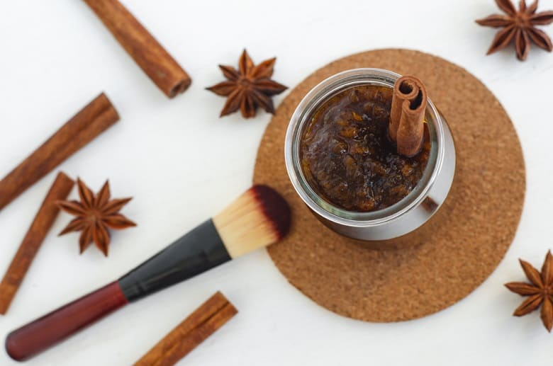 Homemade pumpkin spice facial maskscrub made with ripe pumpkin puree