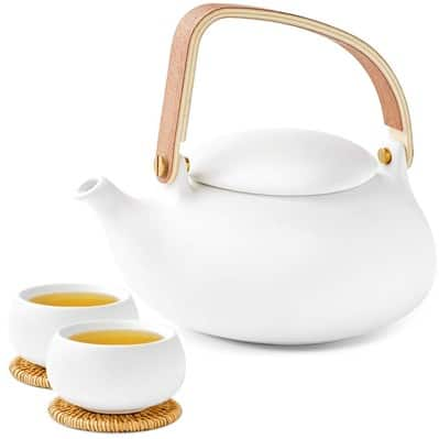ZENS Modern Frosted Ceramic Japanese Teapot Cups Set