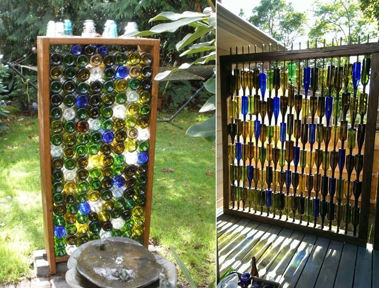 Wine Bottle Privacy Screens