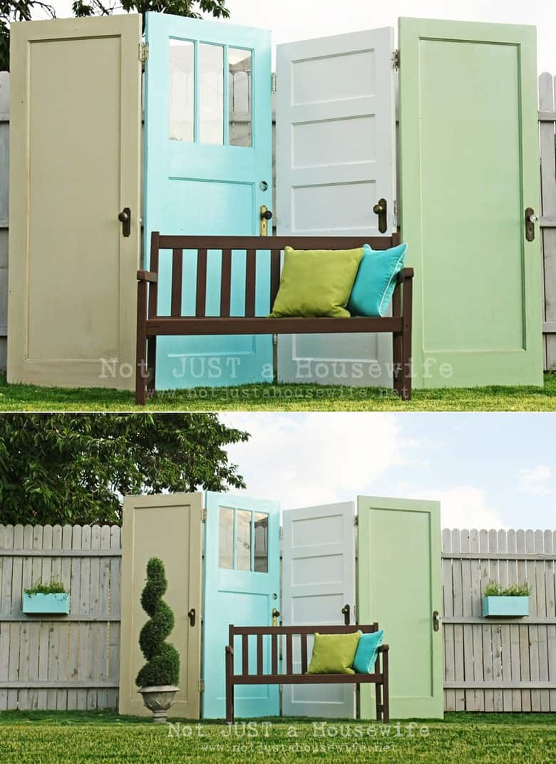 Recycled Door Privacy Screen