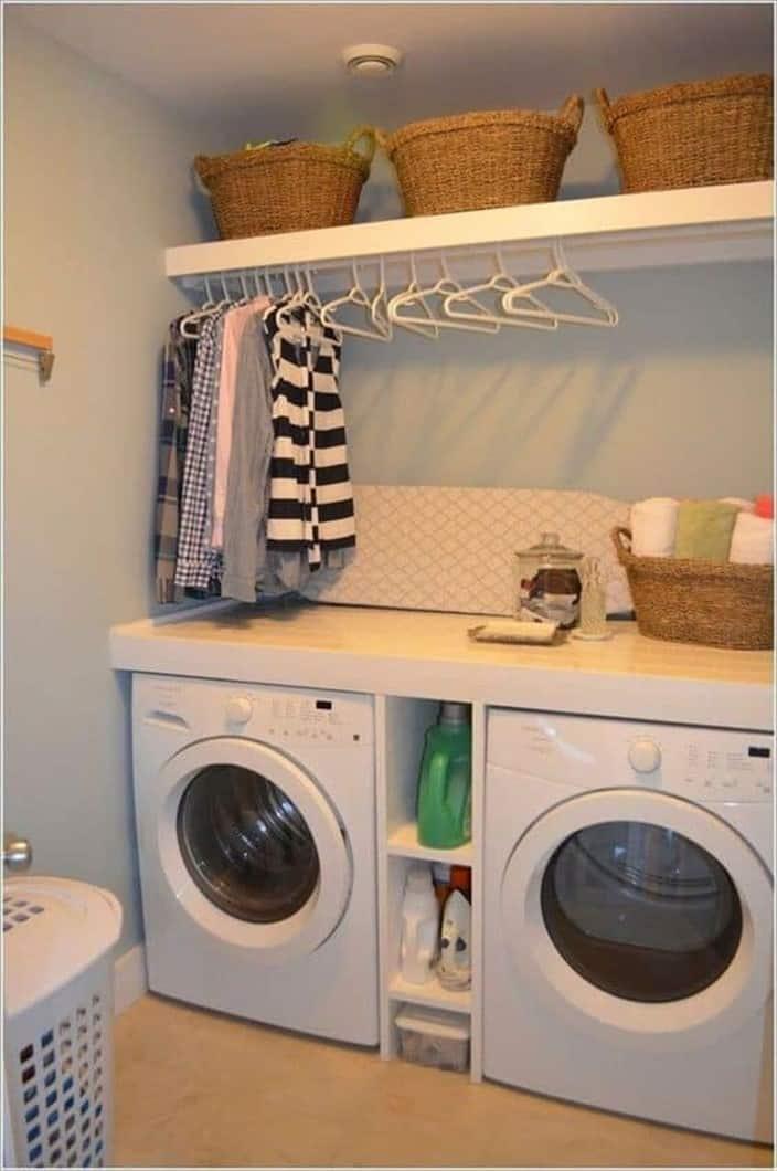 open shelves for Basement Laundry Room