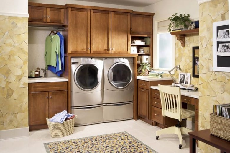 set up a home office for basement Laundry Room