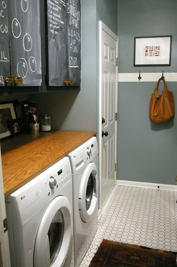 darker shades on your walls for Basement Laundry Room