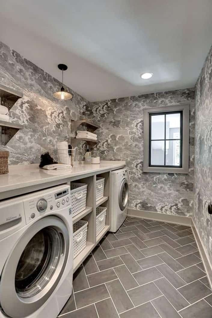 extensive artificial lighting solutions for Basement Laundry Room