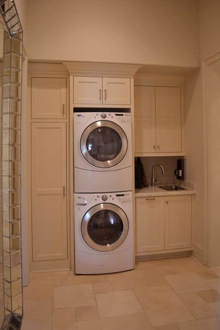 cloth storage in basement Laundry Room