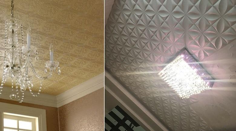 Embossed Wallpaper Ceilings