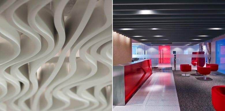 Baffle Ceiling Texture