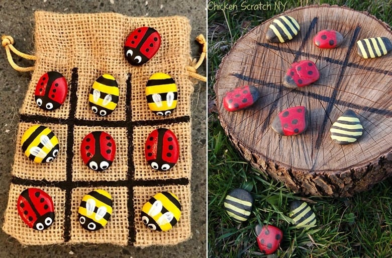 Ladybug and Bumblebee Outdoor Tic Tac Toe