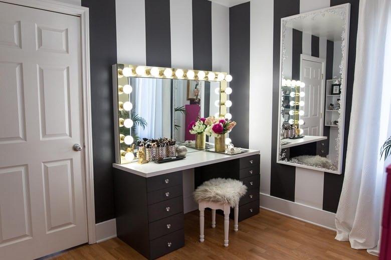 A Dazzling Vanity Mirror