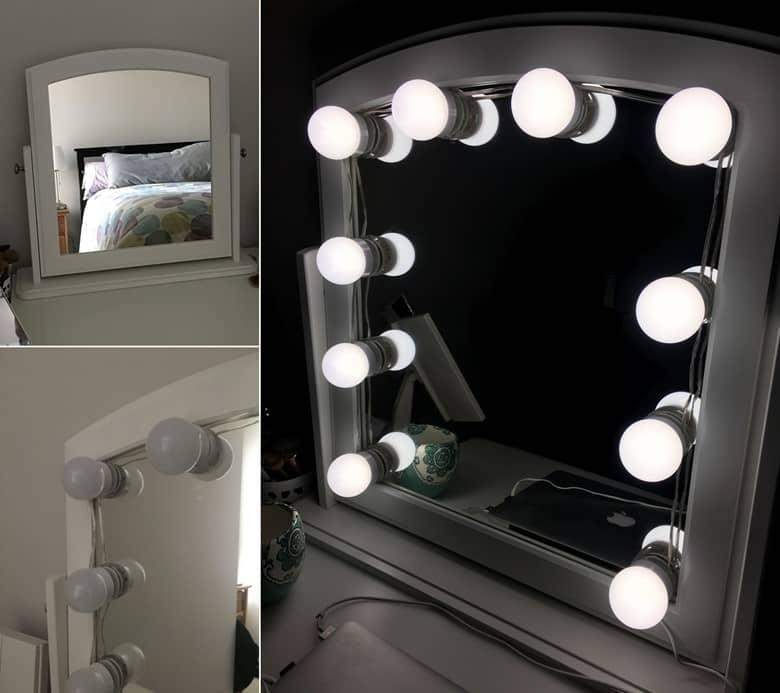 An IKEA Hack Vanity Mirror